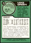 1977 Topps #99  Mike Green  Back Thumbnail