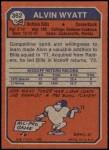 1973 Topps #362  Alvin Wyatt  Back Thumbnail