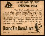 1950 Topps Bring Em Back Alive #95   An Ape Takes The Count Back Thumbnail