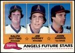 1981 Topps #214   -  John Harris / Ralph Botting / Jim Dorsey Angels Front Thumbnail