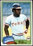1981 Topps #283  Billy Sample  Front Thumbnail
