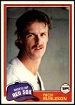 1981 Topps #455  Rick Burleson  Front Thumbnail