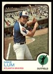 1973 Topps #266  Mike Lum  Front Thumbnail