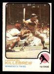 1973 Topps #170  Harmon Killebrew  Front Thumbnail