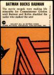 1966 Topps Batman Blue Bat Puzzle Back #31   Batman Bucks Badman Back Thumbnail