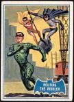 1966 Topps Batman Blue Bat Puzzle Back #22   Routing the Riddler Front Thumbnail