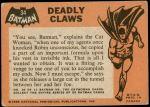 1966 Topps Batman Black Bat #34   Deadly Claws Back Thumbnail