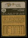 1973 Topps #546  Jim York  Back Thumbnail