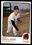 1973 Topps #566  Lew Krausse  Front Thumbnail