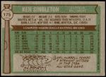 1976 Topps #175  Ken Singleton  Back Thumbnail