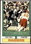 1974 Topps #219  Ray Guy  Front Thumbnail