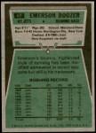 1975 Topps #67  Emerson Boozer  Back Thumbnail