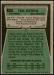 1975 Topps #301  Tim Berra  Back Thumbnail