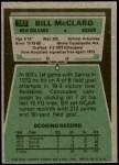 1975 Topps #382  Bill McClard  Back Thumbnail