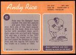 1970 Topps #42  Andy Rice  Back Thumbnail