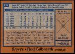 1978 Topps #217  Rod Gilbreath  Back Thumbnail