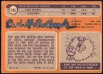 1970 Topps #195  Earl McCullough  Back Thumbnail