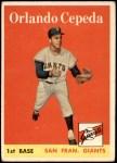 1958 Topps #343  Orlando Cepeda  Front Thumbnail