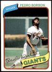 1980 Topps #627  Pedro Borbon  Front Thumbnail