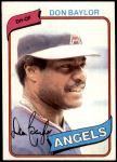 1980 Topps #285  Don Baylor  Front Thumbnail