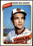 1980 Topps #425  Mark Belanger  Front Thumbnail