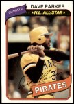 1980 Topps #310  Dave Parker  Front Thumbnail