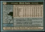 1980 Topps #433  Rich Gale  Back Thumbnail