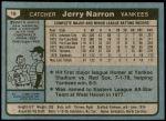 1980 Topps #16  Jerry Narron   Back Thumbnail