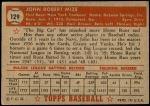 1952 Topps #129  Johnny Mize  Back Thumbnail