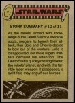 1977 Topps Star Wars #49   The rebels monitor the raid Back Thumbnail