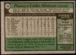 1979 Topps #189  Ed Whitson  Back Thumbnail