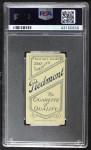 1909 T206 STD Jack Pfiester  Back Thumbnail
