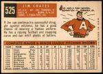 1959 Topps #525  Jim Coates  Back Thumbnail