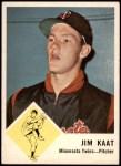 1963 Fleer #22  Jim Kaat  Front Thumbnail