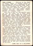 1950 Callahan Hall of Fame  Ted Lyons  Back Thumbnail