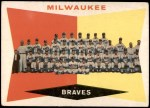1960 Topps #381   Braves Team Checklist Front Thumbnail