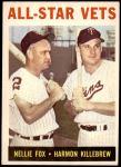 1964 Topps #81   -  Harmon Killebrew / Nellie Fox All-Star Vets Front Thumbnail
