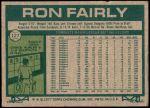 1977 Topps #127  Ron Fairly  Back Thumbnail