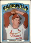 1972 Topps #278  Dennis Higgins  Front Thumbnail