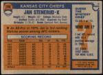 1976 Topps #160  Jan Stenerud  Back Thumbnail