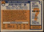 1976 Topps #237  Jesse Freitas  Back Thumbnail