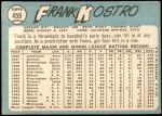 1965 Topps #459  Frank Kostro  Back Thumbnail