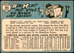1965 Topps #285  Ron Hunt  Back Thumbnail
