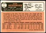 1966 Topps #24  Don Kessinger  Back Thumbnail