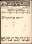 1959 Topps #105  John David Crow  Back Thumbnail