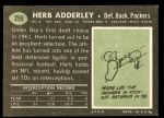 1969 Topps #255  Herb Adderley  Back Thumbnail