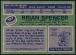 1976 Topps #191  Brian Spencer  Back Thumbnail