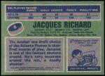 1976 Topps #8  Jacques Richard  Back Thumbnail