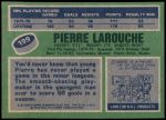 1976 Topps #199  Pierre Larouche  Back Thumbnail