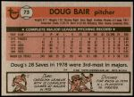 1981 Topps #73  Doug Bair  Back Thumbnail